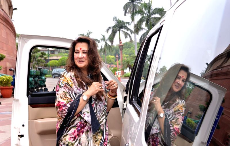 Trinamool Congress MP Moon Moon Sen at Parliament, in New Delhi on Aug 10, 2018.