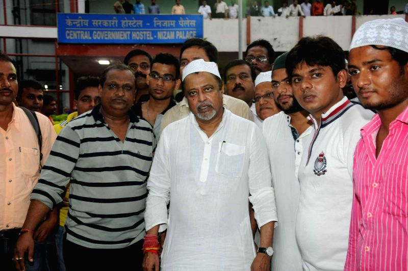 Trinamool Congress MP Mukul Roy during a Iftar party at Nizam Palace in Kolkata on June 28, 2015 .
