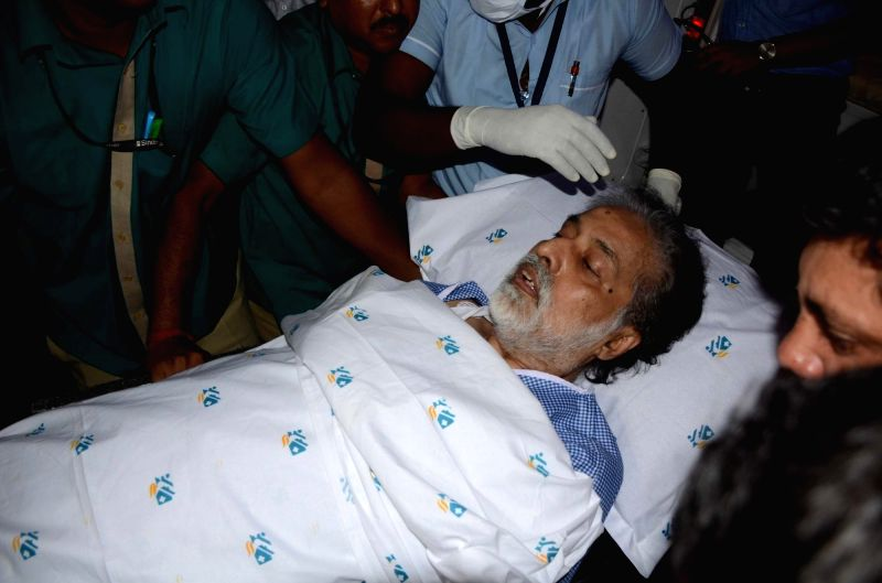 Trinamool Congress MP Sudip Bandopadhyay being taken to hospital in Kolkata on May 21, 2017. Bandyopadhyay was discharged from a private hospital in Bhubaneswar two days after being granted ...