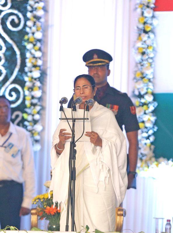 Trinamool Congress supremo Mamata Banerjee swears-in as West Bengal chief minister in Kolkata, on May 27, 2016. - Mamata Banerjee