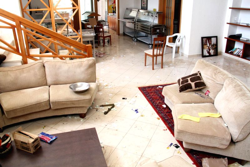 Photo taken on Aug. 31, 2014 shows an interior view of the US Embassy in Tripoli, Libya. A group of Islamist fighters have stormed the U.S. embassy in Tripoli, as ..