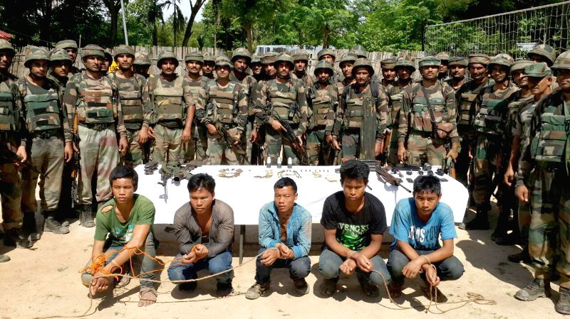 Troops of Red Horns Division of the Indian Army apprehended five wanted terrorists of Karbi People Liberation Tigers including its top leader, General Secretary Ronam Lijulang at Bakulya in East ...