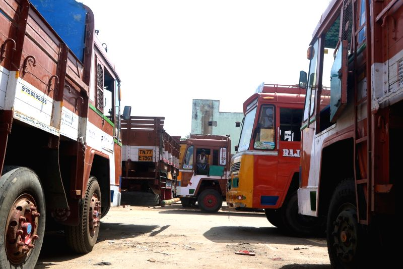 Truckers in Himachal strike work