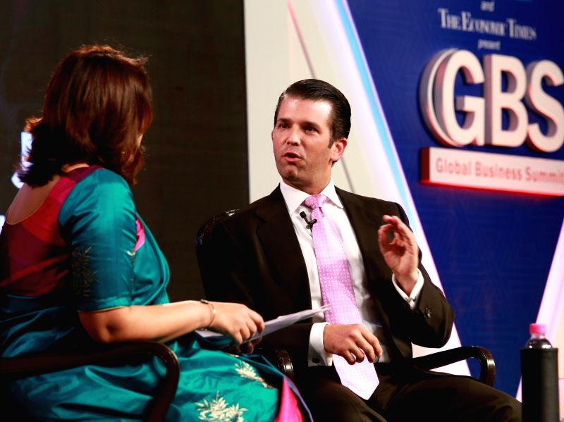Trump Organisation Executive Vice President Donald Trump Junior at the 4th Global Business Summit in New Delhi on Feb 23, 2018.