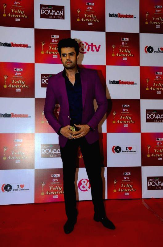 TV actor Manish Paul during the 14th Indian Telly Awards in Mumbai, on Nov 28, 2015. - Manish Paul