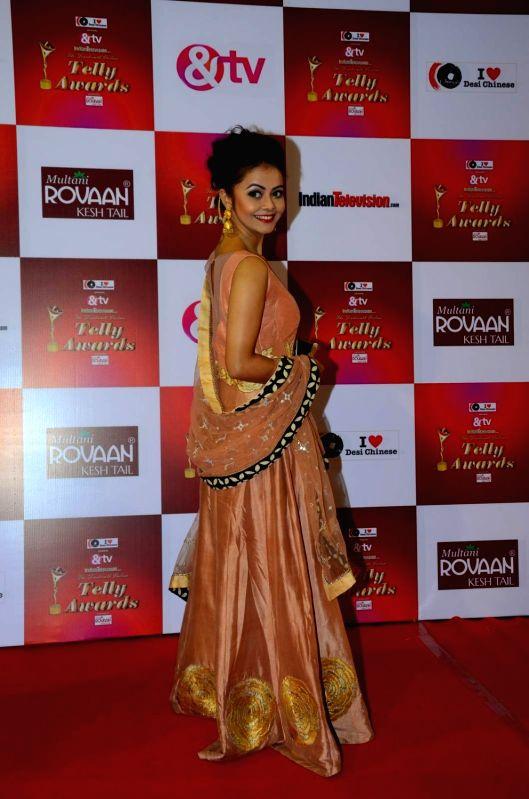 TV actress Devoleena Bhattacharjee during the 14th Indian Telly Awards in Mumbai, on Nov 28, 2015. - Devoleena Bhattacharjee