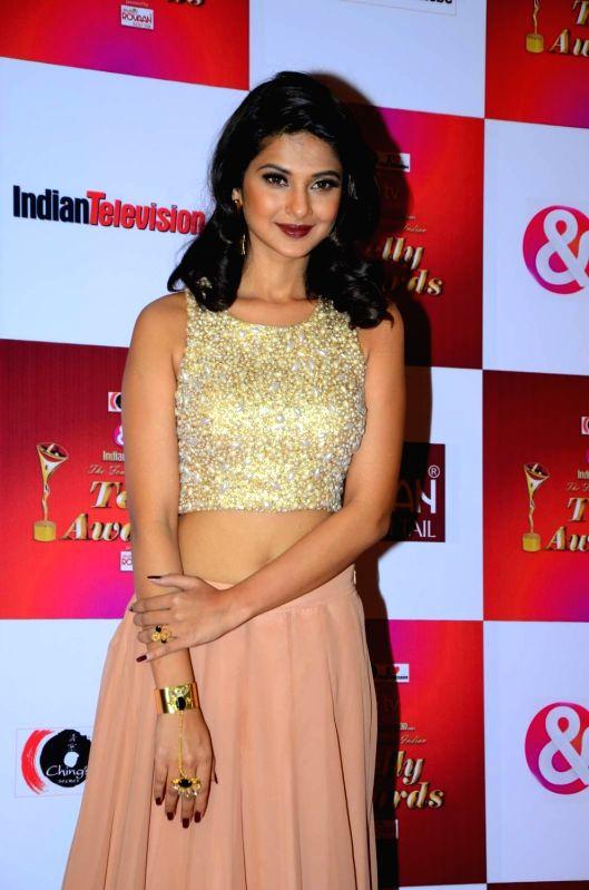 TV actress Jennifer Winget during the 14th Indian Telly Awards in Mumbai, on Nov 28, 2015. - Jennifer Winget