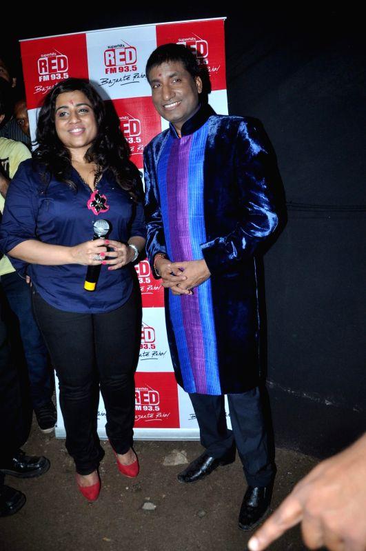 TV Commodian Raju Shrivastav and RJ Malishka at RED FM Hawa Mein