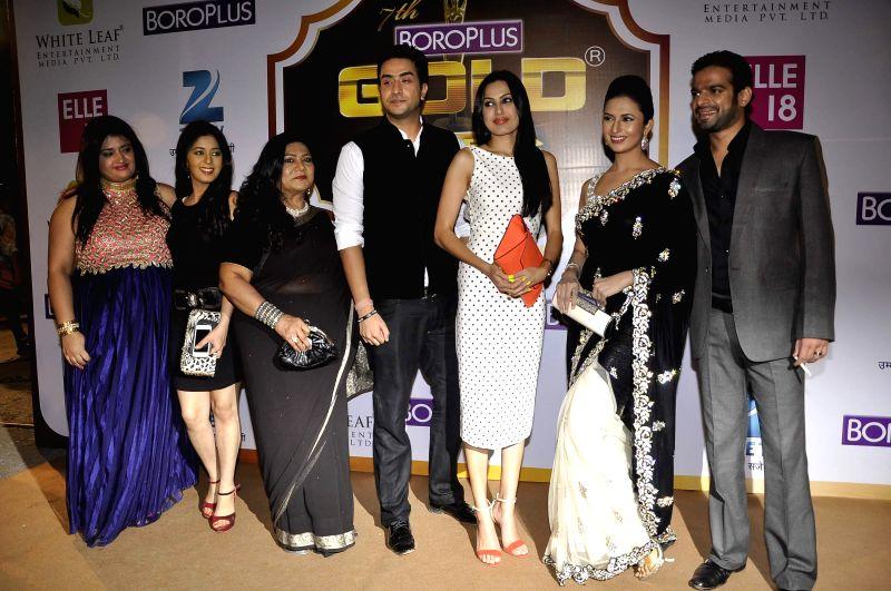 TV serial Ye Hai Mohabbatein team during the 7th Boroplus Zee Gold Awards 2014 in Mumbai, on May 17, 2014.