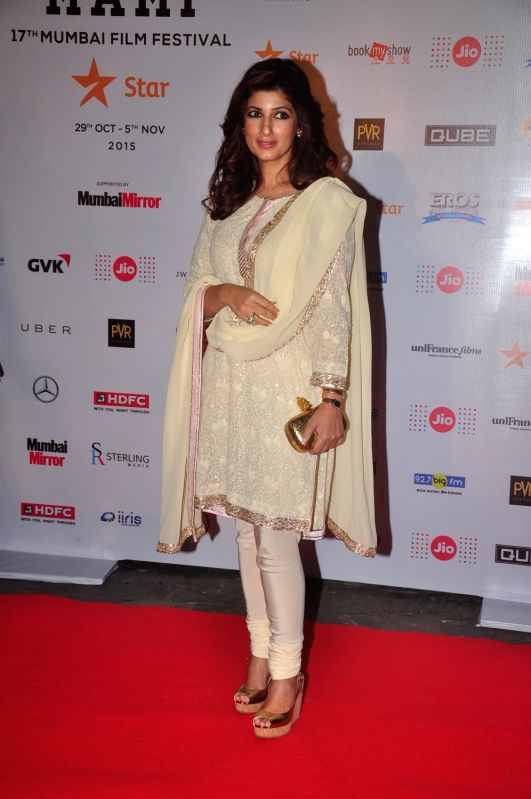 Twinkle Khanna during Jio MAMI 17th Mumbai Film Festival Opening Ceremony in Mumbai on Oct 30, 2015. - Khanna