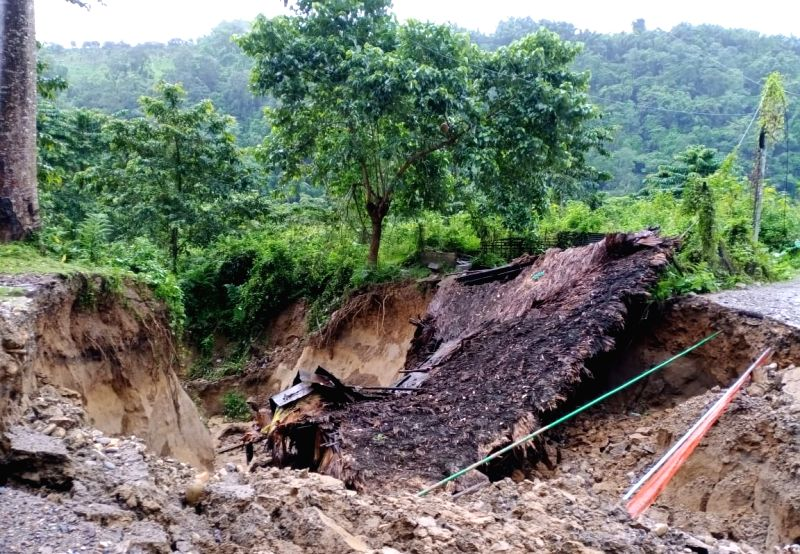 Two people died, thousands affected in floods, landslides in Arunachal, Assam.