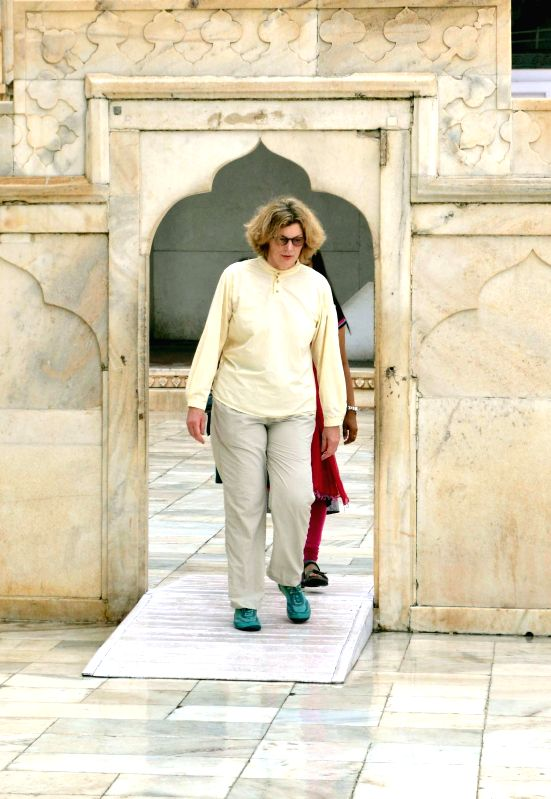 U.S. Charge  d`Affaires in India Kathleen Stephens during her visit to the Red Fort in Agra on Sept 2, 2014.