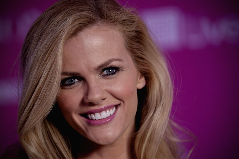 : U.S. model Brooklyn Decker takes part in a press conference ahead of the Spring-Summer 2014 Fashion Fest, in Mexico City, capital of Mexico, on March 6, ...