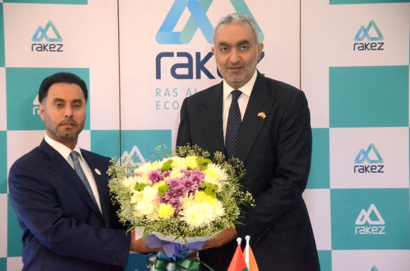 UAE Consul General to Mumbai Sheikh Ahmad bin Saqr al Qasimi during the inauguration of RAKEZ, an organisation to support Indian investors who wish to set up a business in the UAE, in Mumbai ... - Sheikh Ahmad