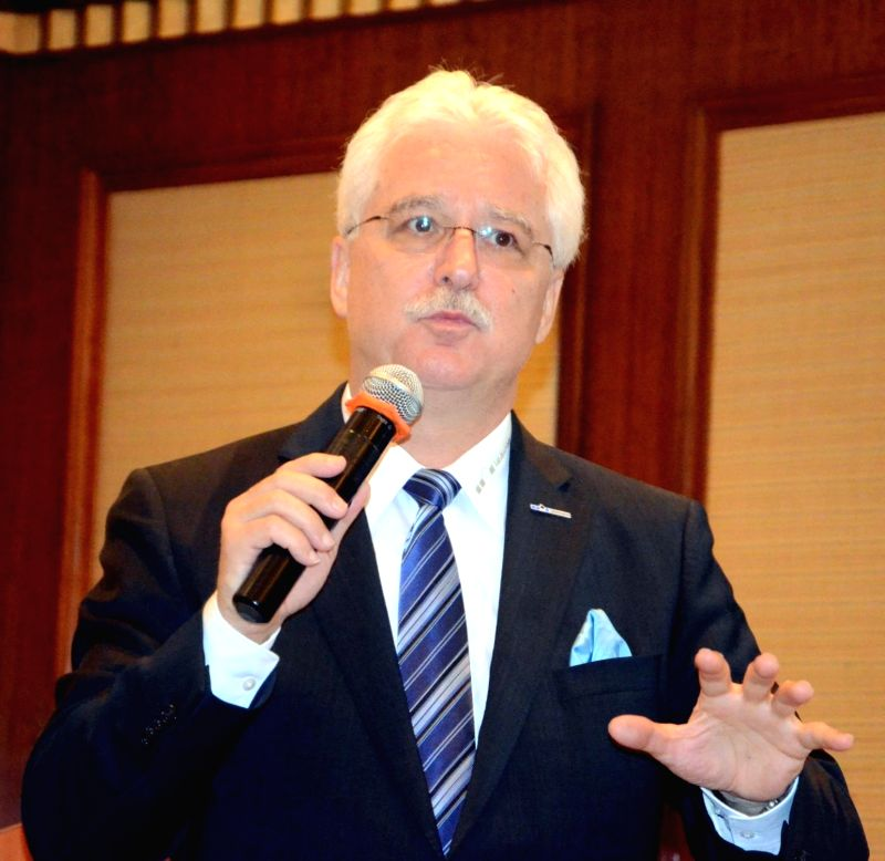 Uhlmann India Project Director Siegfried Drost during a programme in Mumbai, on May 18, 2016.
