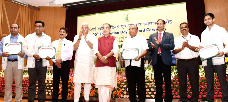 Union Agriculture and Farmers Welfare Minister Radha Mohan Singh, Union MoS Agriculture and Farmers Welfare Gajendra Singh Shekhawat and Department of Agricultural Research and Education ... - Radha Mohan Singh