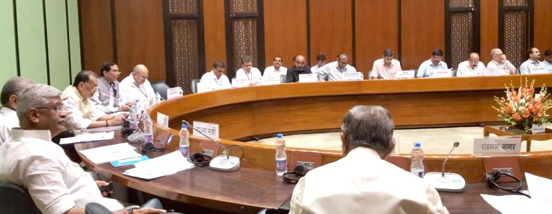 Union Agriculture and Farmers Welfare Minister Radha Mohan Singh chairs the Integrated Farming Systems (IFS) in-session meeting, in New Delhi on Aug 2, 2018. - Radha Mohan Singh