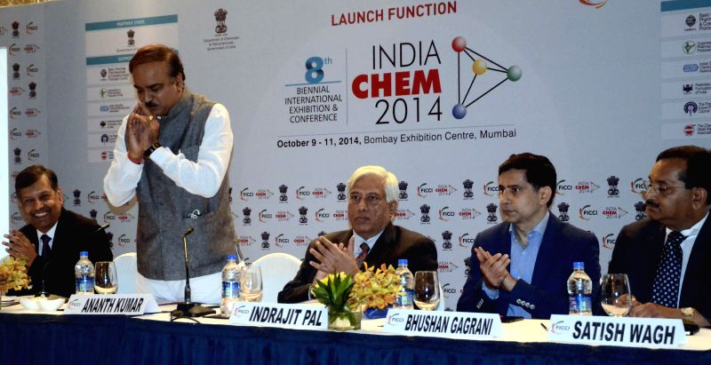Union Chemicals and Fertilizer Minister Ananth Kumar during a programme organised to launch India Chem 2014 in Mumbai on July 4, 2014. - Ananth Kumar