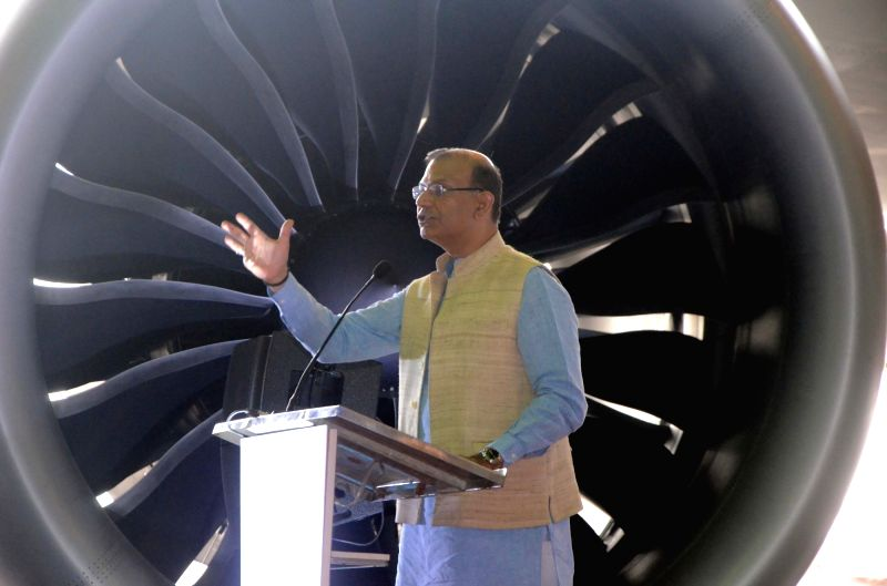 Union Civil Aviation Minister Jayant Sinha addresses during an Air India-Boeing programme in Mumbai on June 14, 2018. - Jayant Sinha