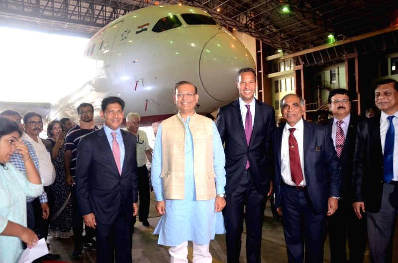Union Civil Aviation Minister Jayant Sinha during an Air India-Boeing programme in Mumbai on June 14, 2018. - Jayant Sinha