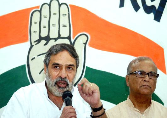 Union Commerce Minister and Congress leader Anand Sharma during a press conference in Kolkata on April 28, 2014. - Anand Sharma