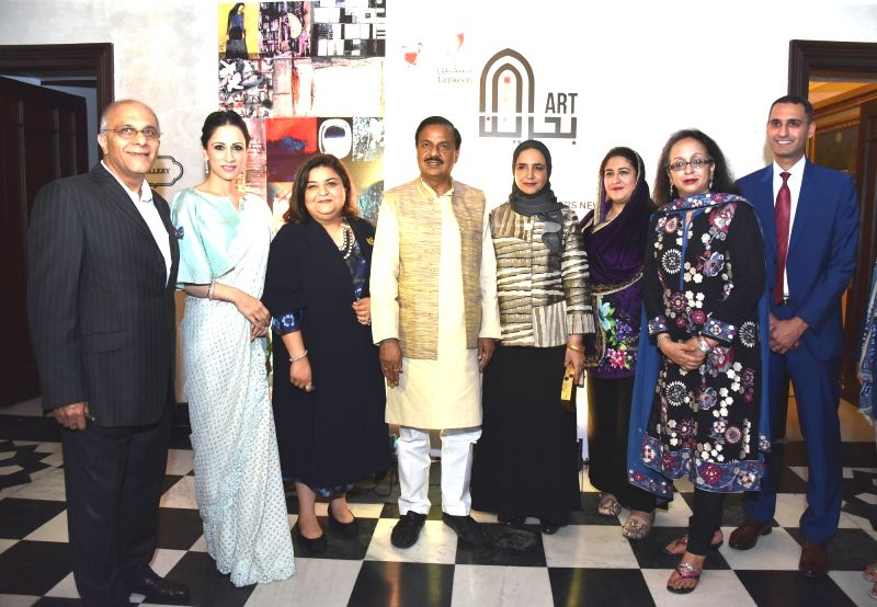 Mahesh Sharma at art exhibition - Mahesh Sharma