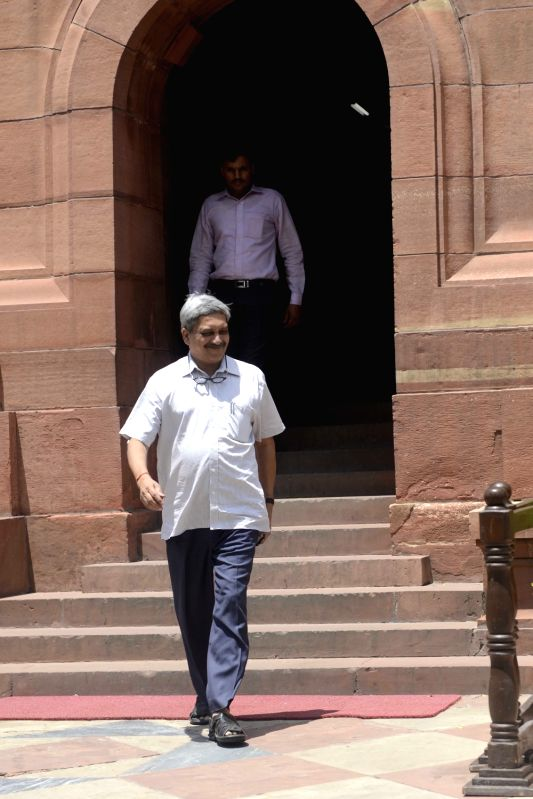 Union Defence Minister Manohar Parrikar at Parliament in New Delhi, on Aug 4, 2016. - Manohar Parrikar