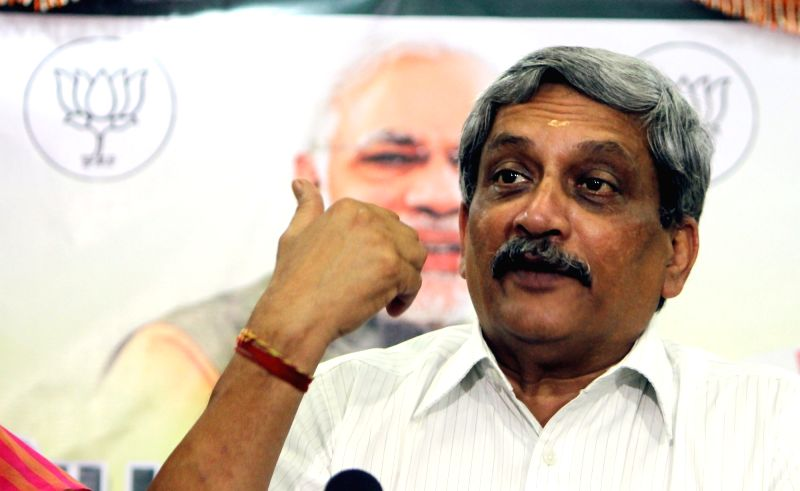 Union Defence Minister Manohar Parrikar interacts with press in Chennai, on May 27, 2016. - Manohar Parrikar