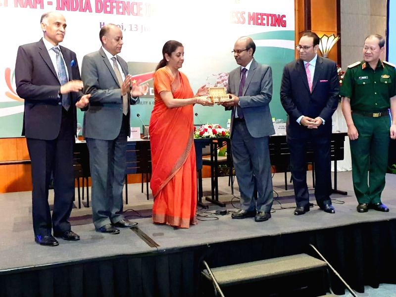 Union Defence Minister Nirmala Sitharaman, inaugurats the first Representative Office of Bharat Electronics Limited (BEL) in Vietnam by handing over the symbolic key to BEL CMD Gowtama M V ... - Nirmala Sitharaman and Ajay Kumar