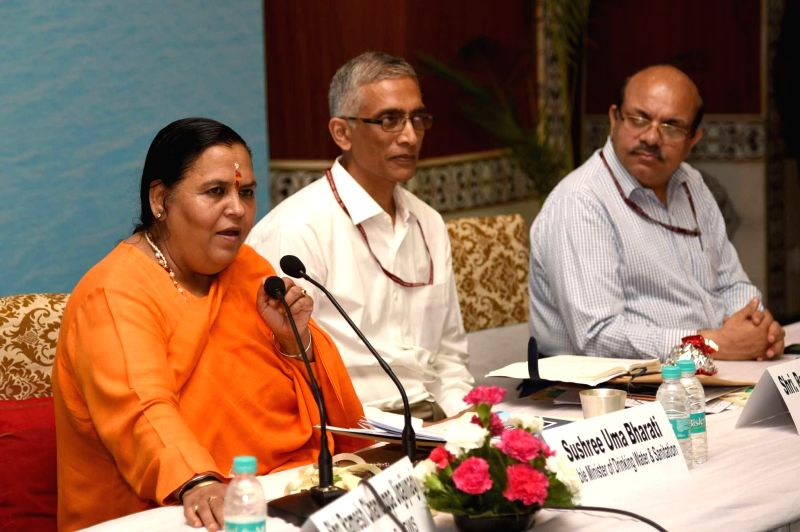 Union Drinking Water and Sanitation Minister Uma Bharti chairs National Consultation on the National Rural Drinking Water Programme (NRDWP) and Swajal: Reform and Way Forward, in New Delhi ... - Uma Bharti