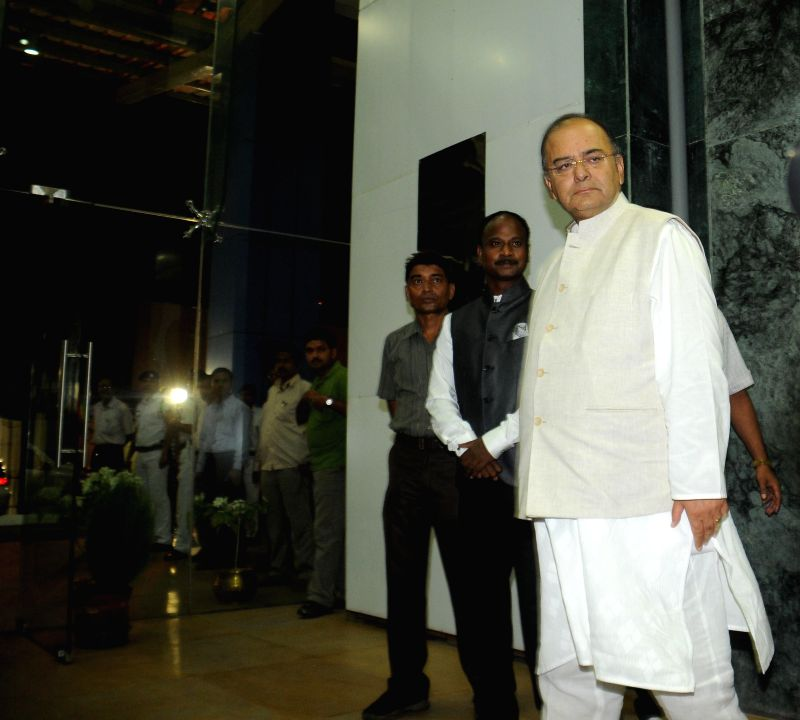 Union Finance Minister Arun Jaitley at Nabanna in Howrah, West Bengal on Aug 23, 2014.