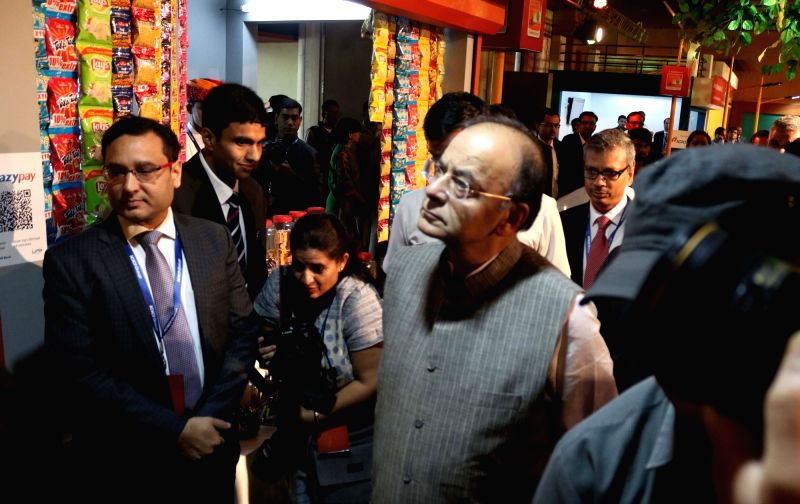 Union Finance Minister Arun Jaitley at the inauguration of 100 Digital Villages in New Delhi on May 2, 2017. - Arun Jaitley