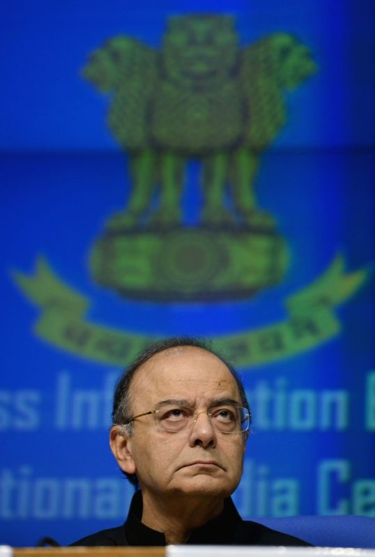 Union Finance Minister Arun Jaitley during a press conference in New Delhi on June 1, 2017. - Arun Jaitley