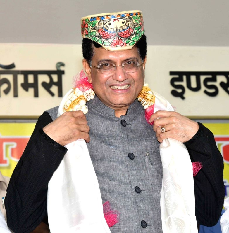 Union Finance Minister Piyush Goyal during an interactive programme organised by Bihar Chamber of Commerce and Industries, in Patna on Aug 12, 2018. - Piyush Goyal