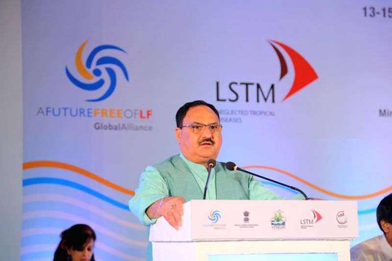 Union Health Minister J.P. Nadda addresses at the 10th Meeting of Global Alliance to Eliminate Lymphatic Filariasis (GAELF), in New Delhi on June 13, 2018. - J.