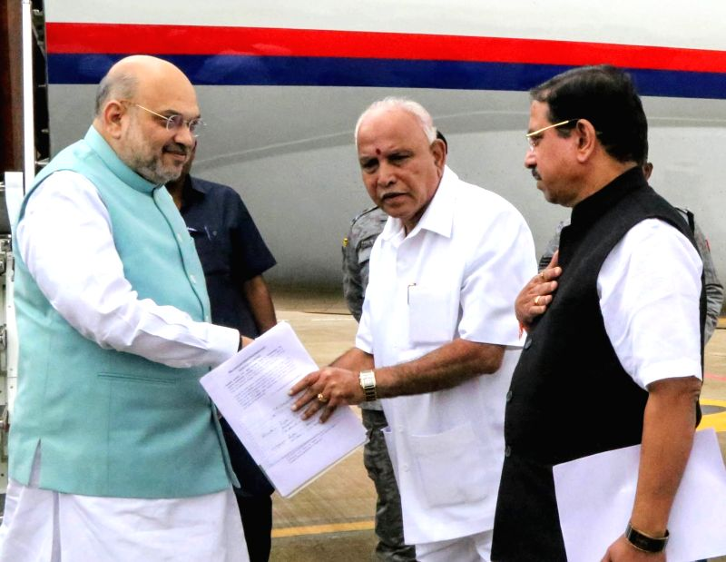 Union Home Minister Amit Shah and Karnataka Chief Minister B.S. Yediyurappa.