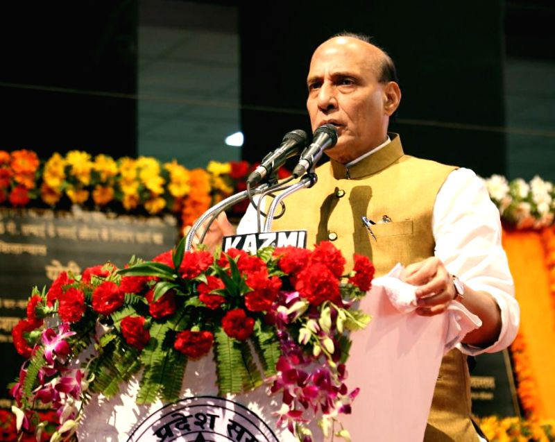 Union Home Minister Rajnath Singh addresses during a programme, in Lucknow, on  Aug 5, 2018 - Rajnath Singh