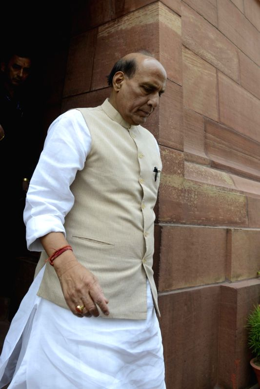 Union Home Minister Rajnath Singh at Parliament in New Delhi on May 9, 2016. - Rajnath Singh