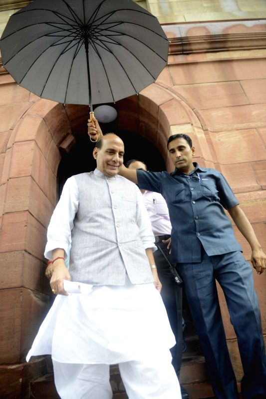 Union Home Minister Rajnath Singh at Parliament in New Delhi, on July 25, 2016. - Rajnath Singh