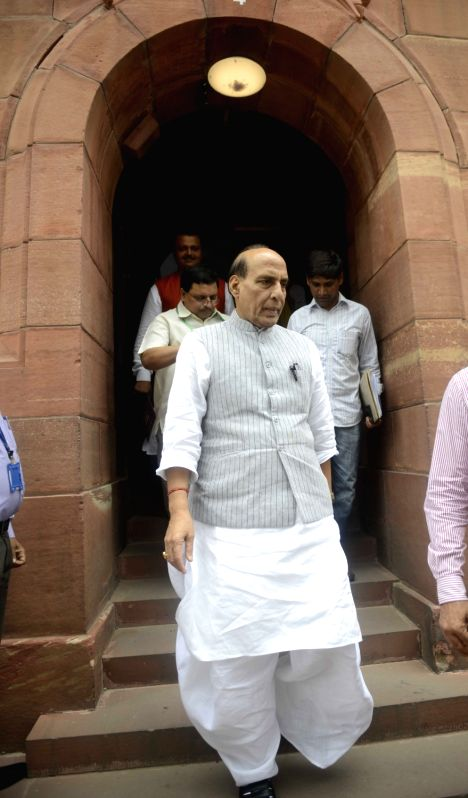 Union Home Minister Rajnath Singh at Parliament in New Delhi, on July 26, 2016. - Rajnath Singh