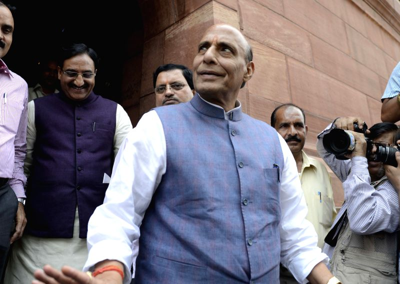 Union Home Minister Rajnath Singh at the Parliament in New Delhi, on July 21, 2015. - Rajnath Singh