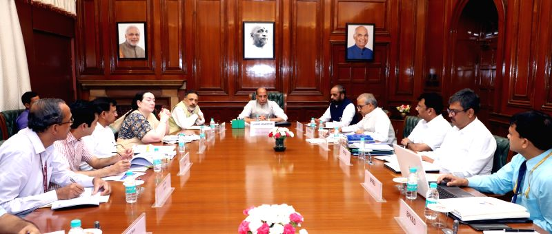 Union Home Minister Rajnath Singh chairs a meeting to review the progress of Bureau of Police Research and Development (BPR&D) and National Crime Records Bureau (NCRB) in New Delhi on ... - Rajnath Singh