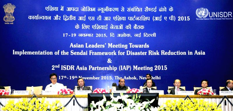 Union Home Minister Rajnath Singh chairs the Inaugural Session of the Asian Leaders' Meeting towards Implementation of the Sendai Framework, in New Delhi on Nov 17, 2015. Also seen Union ...