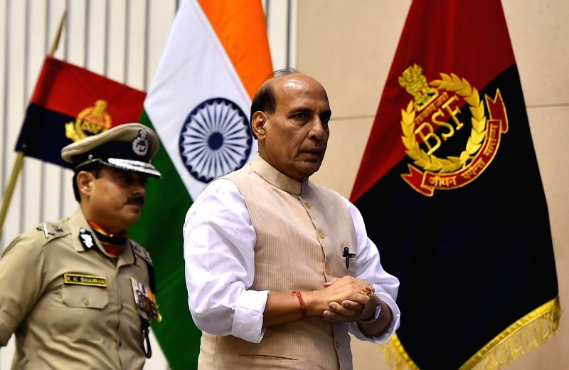 Union Home Minister Rajnath Singh during 14th BSF Investiture Ceremony in New Delhi, on May 20, 2016. - Rajnath Singh