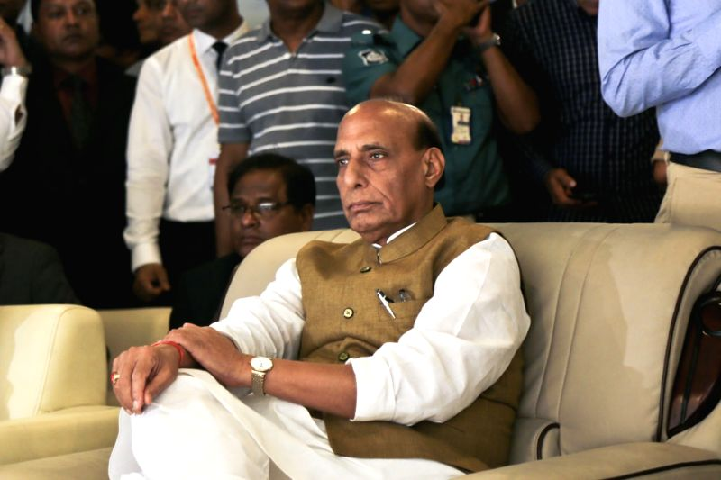 Union Home Minister Rajnath Singh during the inauguration of state of the art Indian Visa Application Centre (IVAC), in Dhaka on July 14, 2018. - Rajnath Singh