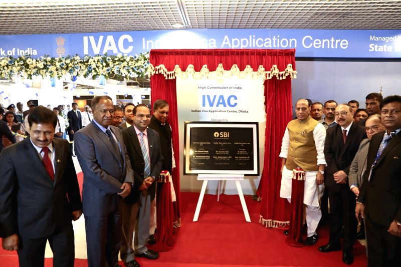 Union Home Minister Rajnath Singh inaugurates the state of the art Indian Visa Application Centre (IVAC), in Dhaka on July 14, 2018. - Rajnath Singh
