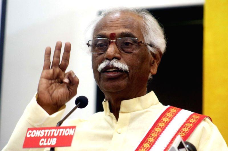 Union Labour Minister Bandaru Dattatreya during a programme organised on International Labour Day in New Delhi, on May 1, 2017. - Bandaru Dattatreya