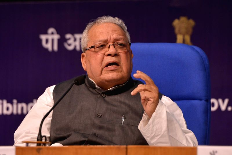 Union Micro, Small and Medium Enterprises Minister Kalraj Mishra addresses a press conference in New Delhi on June 2, 2017. - Kalraj Mishra