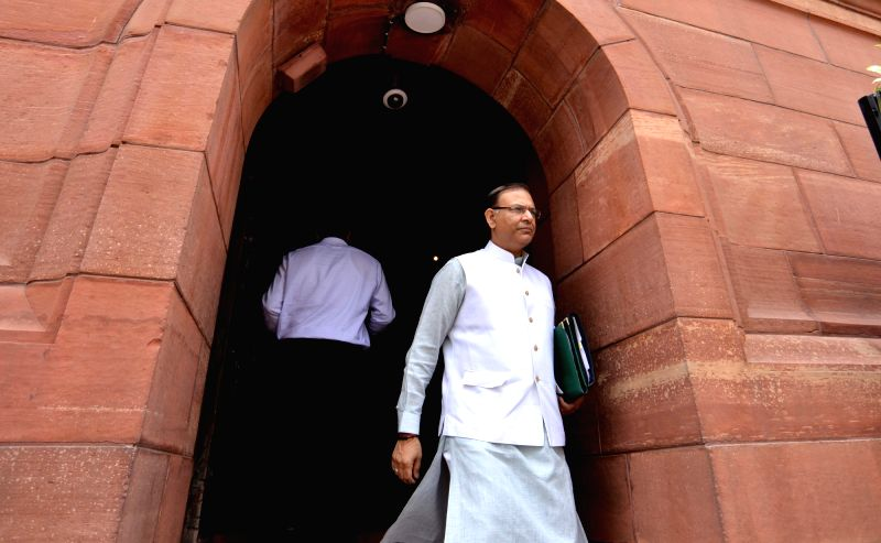 Union Minister and BJP MP Jayant Sinha at Parliament, in New Delhi on Aug 2, 2018. - Jayant Sinha