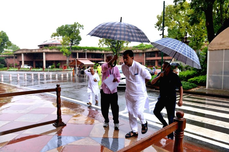 Union Minister and BJP MP R. K. Singh arrives at Parliament, in New Delhi on July 26, 2018. - R. K. Singh